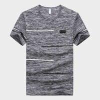 2019 Новый Для мужчин s из хлопка; одежда с овальным вырезом; футболки с коротким рукавом модные Для мужчин тренажерные залы футболка Фитнес бе...