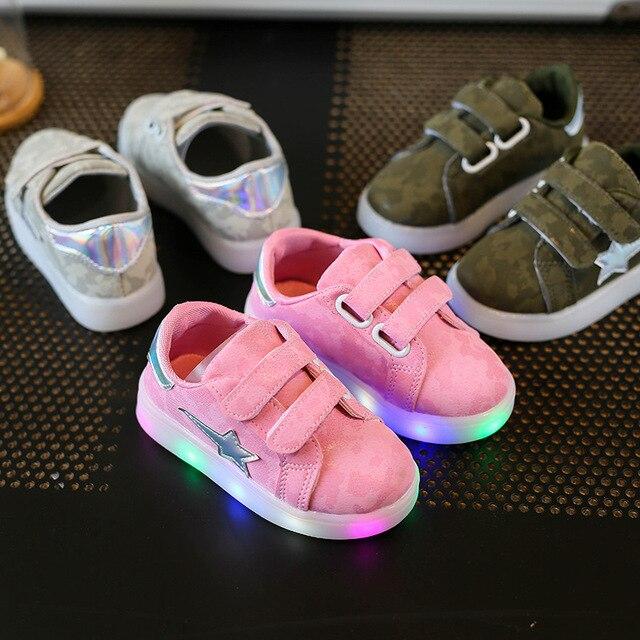 Schoenen Kinderschoenen.Us 8 65 Kinderschoenen Gloeiende Meisjes Licht Schoenen Kinderschoenen Led Lichtgevende Lichten Sneaker Sneakers Verlichte Licht Up Baby Jongens