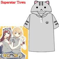 Summer-Style-Women-Tops-Anime-Kawaii-Cat-Shirt-Neko-Atsume-School-Clothes-Kawaii-Mori-Girl-Tee-Roupas-Superstar-Town-2