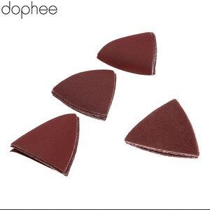 Image 3 - Dophee 32 Stuks Driehoekige Schuurpapier Grit 60/120/180/240 # Voor Multifunctionele Power Tool Als Fein Multimaster dremel Gereedschap 83 Mm
