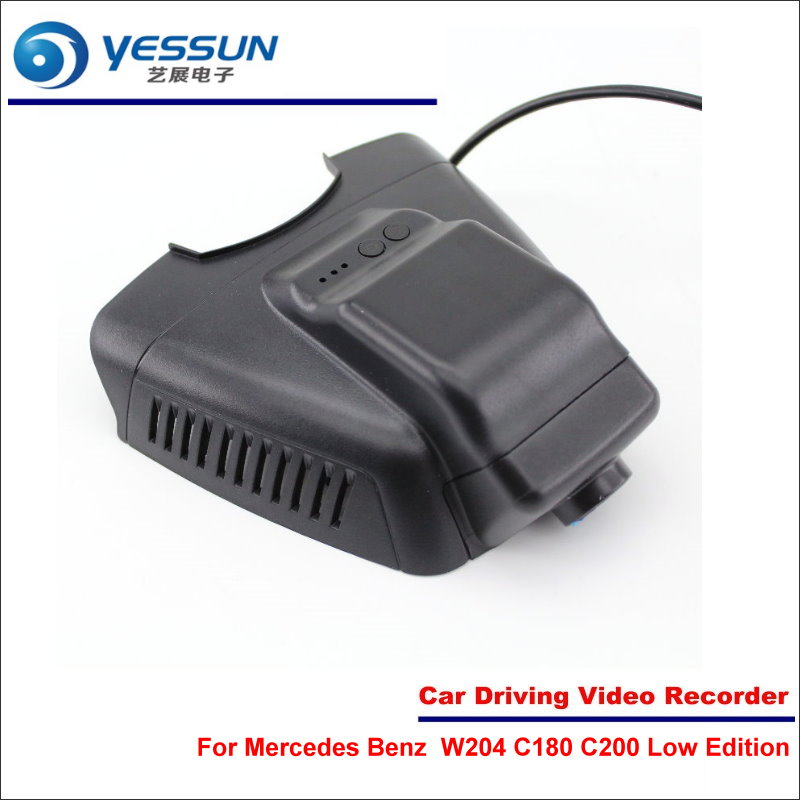 YESSUN For Mercedes Benz C Class W204 C180 C200 2010~2014 Car DVR Driving Video Recorder Front Camera Black Box Dash Cam mewant black suede car steering wheel cover for mercedes benz c180 c200 c350 c300 cls 280 300 350 500 glk 300 2008 2010