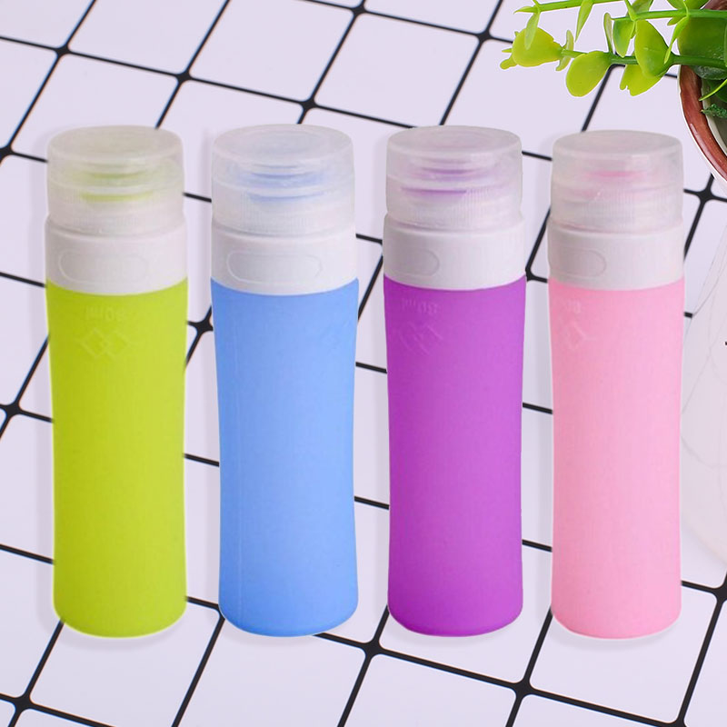 80ML Travel Bottle Silicone Squeezing Refillable Hole Breathable None Leaking