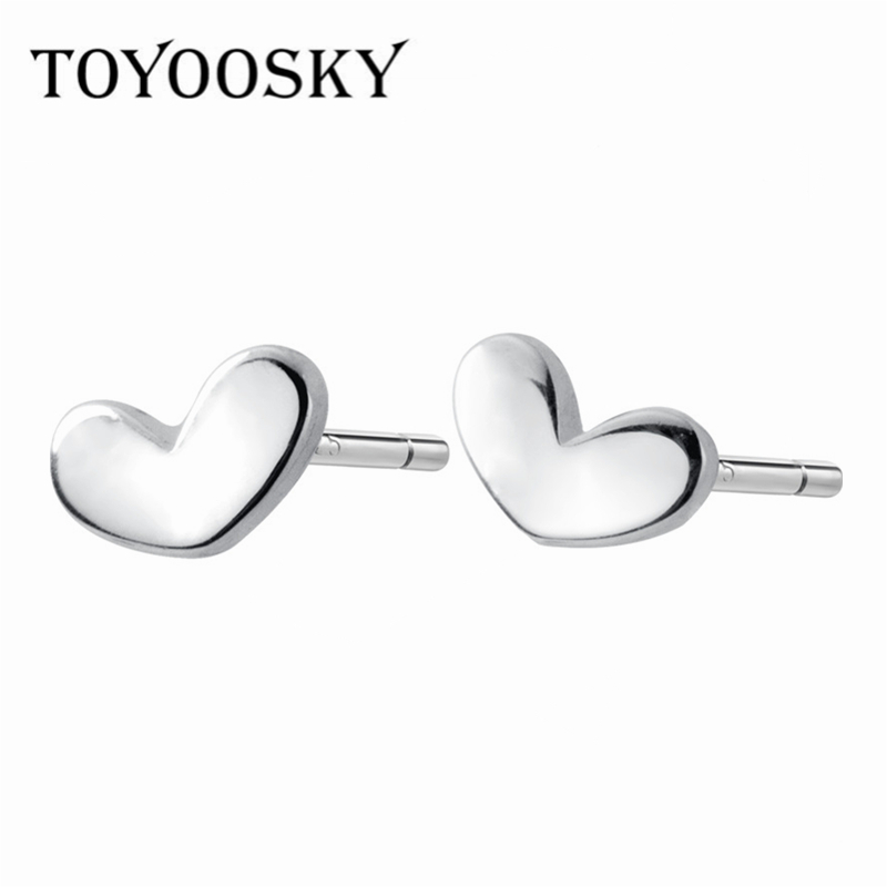s925 Sterling Silver Bean Sweet and Cute Mini Love Earrings Accessories Toys & Games
