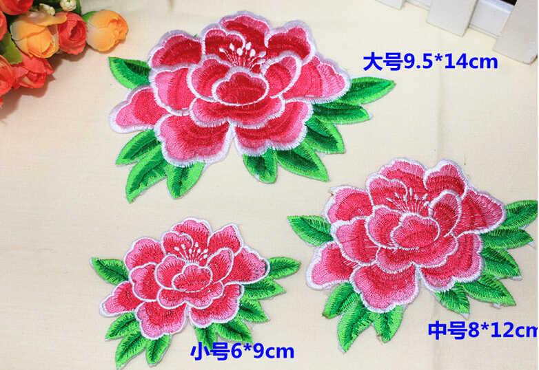 MIX3 6-14 Cm Bordir Mawar Bunga Transfer Besi Pada Patch untuk Pakaian Menjahit Patch Bordiran Pakaian Jeans PSG Jersey