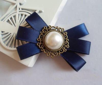 2017 Real Hot Sale Ribbon Broches Juego De Tronos Korean Handmade Retro Brooch Beauties Bow Badge Small Tie Collar Flower