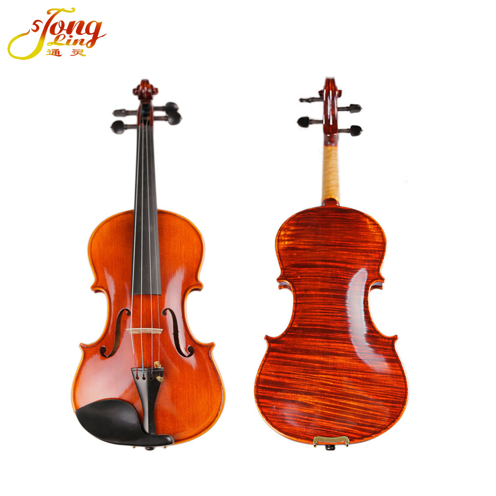Master Hand-craft Antique Violin Naturally Dried Stripes Single Board Maple Violino For Performance Collection TONGLING Brand handmade new solid maple wood brown acoustic violin violino 4 4 electric violin case bow included