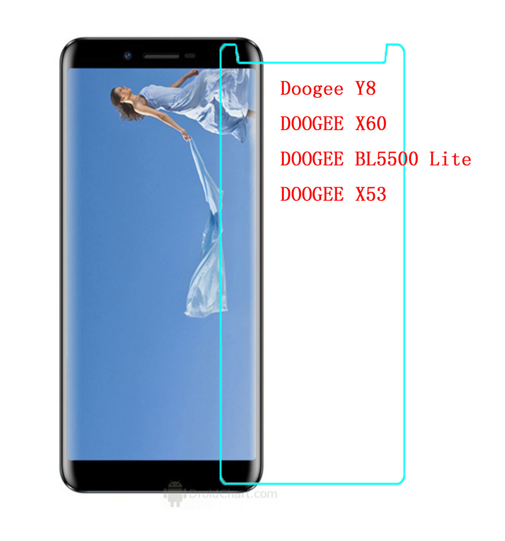 Купить Для Doogee Y8 Y 8 закаленное стекло 9h защитный царапинам Экран протектор для X60 X53 BL5500 Lite смартфон Стекло фильм на Алиэкспресс