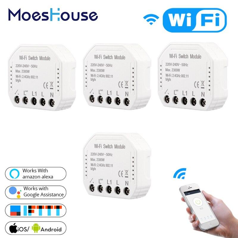 DIY WiFi interruptor de luz inteligente interruptor Universal temporizador de vida inteligente APP Control remoto inalámbrico funciona con Alexa Google Home-in Control del hogar inteligente from Mejoras para el hogar on AliExpress - 11.11_Double 11_Singles' Day 1