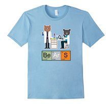 Bigaga Go 2017 New Summer Fashion Tee Funny Periodic Table , Bears Science Geek 100%Cotton Men's T-Shirt