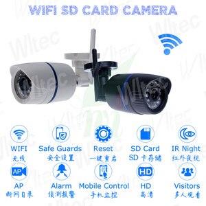 Image 2 - Kamera Wifi wodoodporna 128G karta SD kamera IP 1080P IR ONVIF bezpieczeństwo ruch humanoidalny Alarm P2P Cam Reset bezprzewodowa chmura