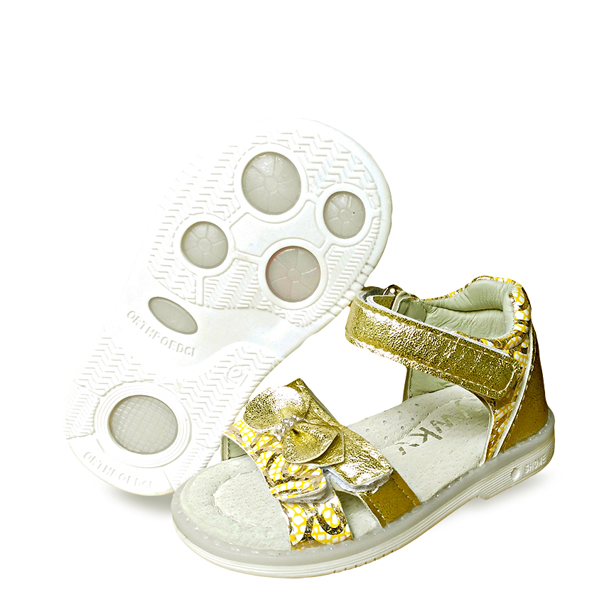 Fashion 1pair Bow-knot Children Sandals Orthopedic Girl PU Leather ,Super Quality Kids Summer Shoes