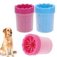 Soft Silicone Brush Pet Foot Washer Cup Puppy Dog Foot Washer Dirty Washing Tools Soft Pet