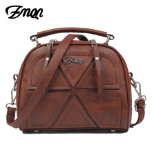 ZMQN Crossbody Bags For Women Vintage Bag Famous Brand PU Leather Handbag Ladies Zipper Small Messenger Bag 2017 Sac Female C523