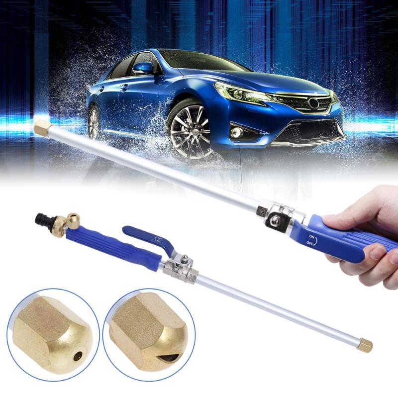 Car High Pressure Washer Water Gun Power Washer Spray Nozzle Water Hose With Long Bent Pole Cleaning Tools Garden Car Washer