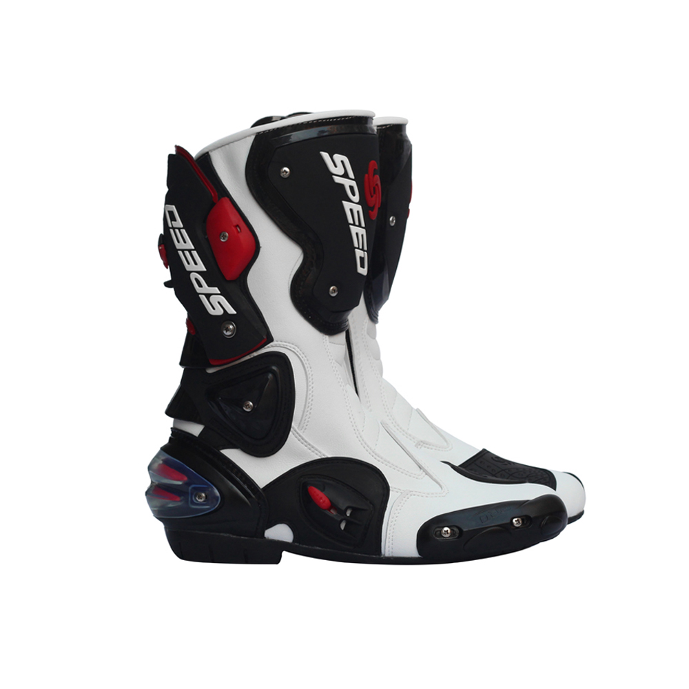 Pro Biker Leather Motorcycle Boots Pro Biker SPEED Racing Boots Motocross Boots Drop Resistance Waterproof Riding Racing Boots мотоботы pro biker pro biker speed