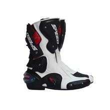 Pro Biker Lleather Bottes de Moto Pro Cycliste SPEED Racing Bottes Motocross Bottes de Baisse Résistance Étanche Équitation Racing Bottes