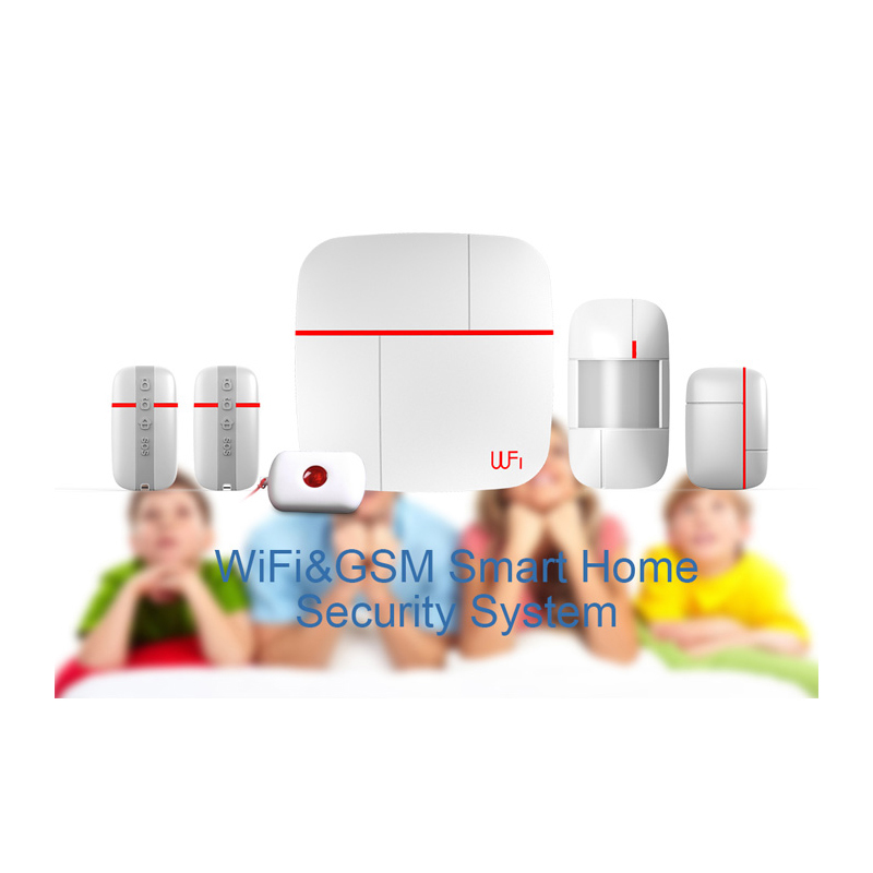 (1 set) New Model WIFI and GSM Dual network Support IOS Andriod APP control Alarm System SMS Wireless PIR Motion Detector new dc5v wifi ibox2 mi light wireless controller compatible with ios andriod system wireless app control for cw ww rgb bulb