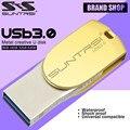 Suntrsi USB Flash Drive de 64 GB de Alta Velocidad USB 3.0 OTG Pendrive de Metal Pendrive 64 GB Unidad Flash USB Stick Micro USB