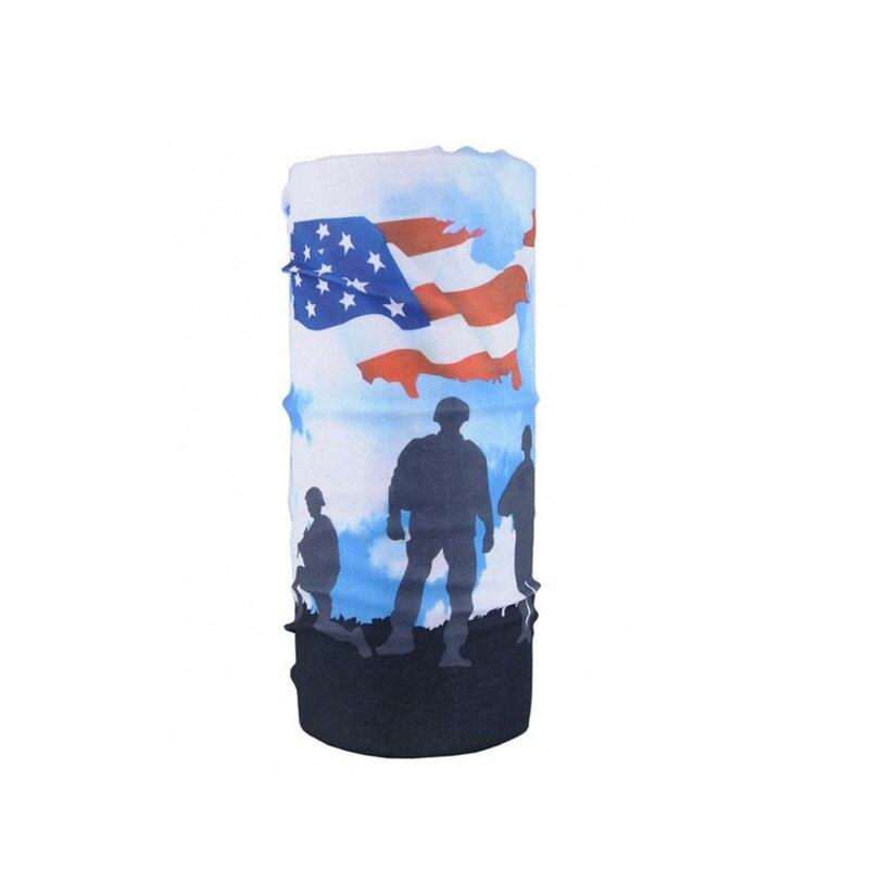 Камуфляжный шарф с высоким прыжком, бандана для мужчин и женщин, маска для лица, тактическая, для улицы, волшебный головной убор, для кемпинга, пешего туризма, шейный шарф - Цвет: 047