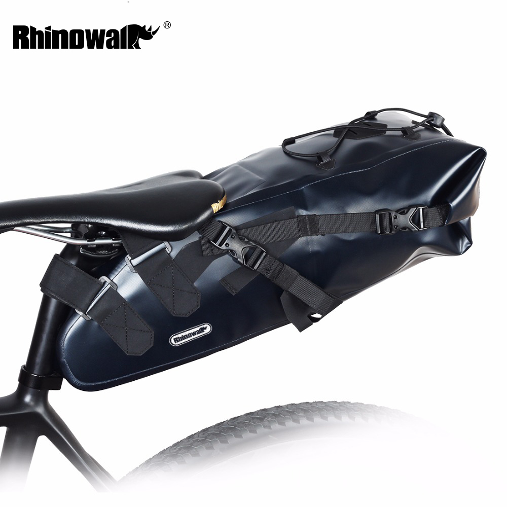 2018 Newest 10L 100% Waterproof Bike Bag RHINOWALK Bicycle Saddle Bag Cycling Mountain Bike Back Seat Rear Bag Bike Accessories rhinowalk 10l 100% waterproof bike saddle bag seat bike mountain bike accessories
