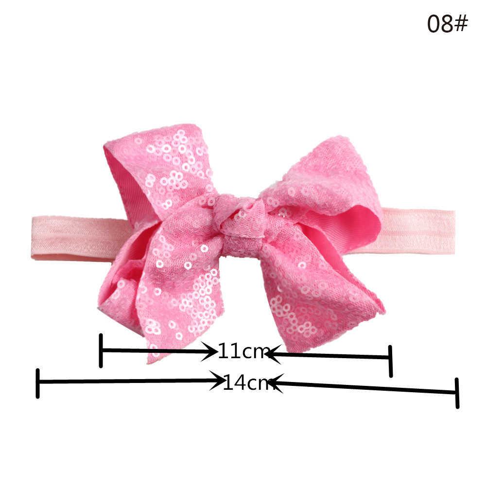 תינוק בנות אופנה יפה סרט שיער Bow-Knot כובעי קישוט יילוד תינוק תינוקות פעוט תמונה אבזר פאייטים סרט