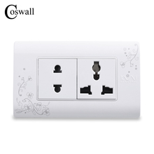 Power-Outlet Electrical-Socket Universal-Plug WALL Protective-Door Multi-Function