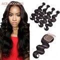 7A Mink Brazilian Virgin Hair With Closure 3 Bundles With Closure Cheap Brazilian Body Wave With Closure Human Hair With Closure