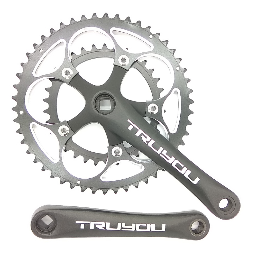 TRUYOU Road Bicycle Crankset Chainwheel 50T 48T 46T 34T 110 BCD Folding Bike Chainring Double Disc