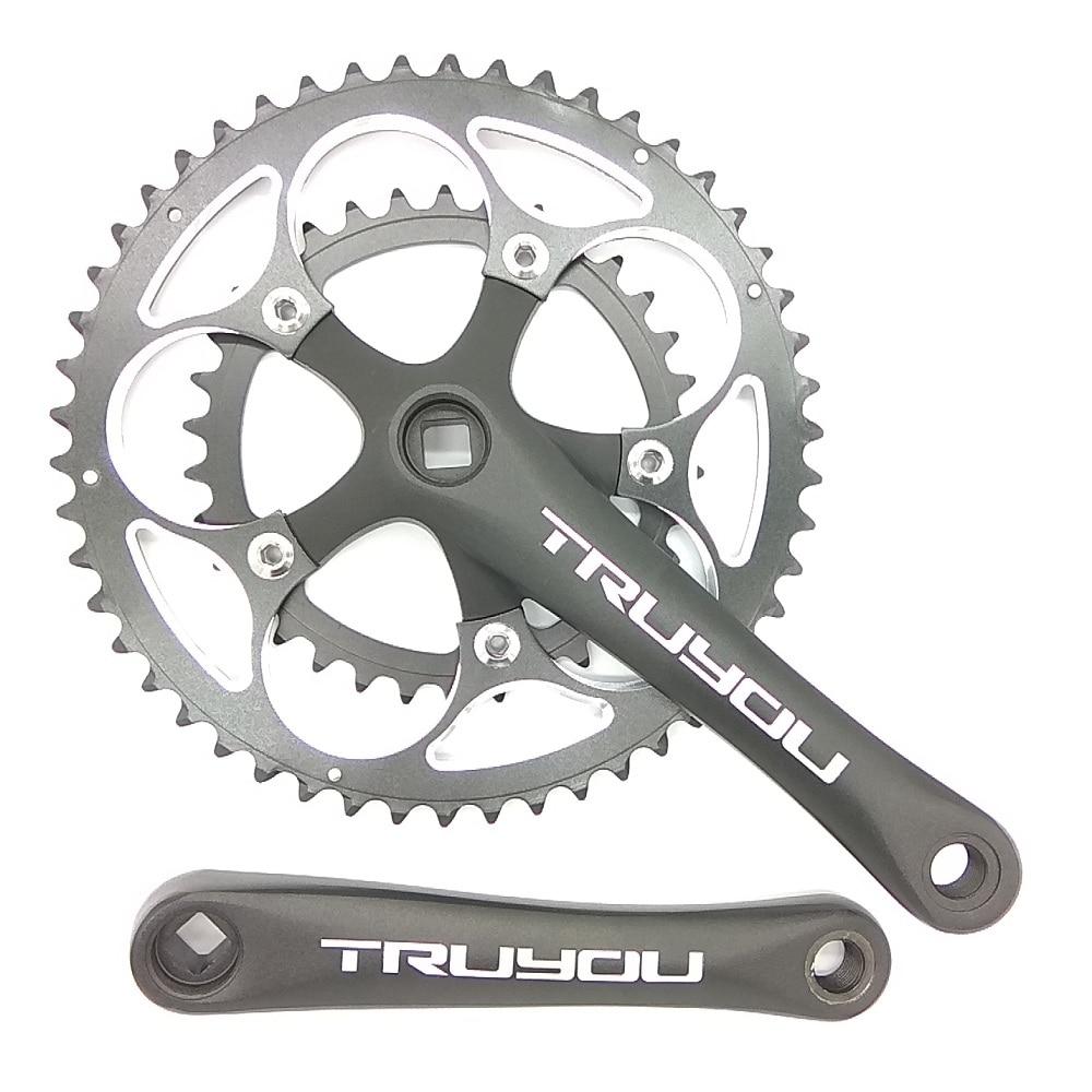 TRUYOU Road Bicycle Crankset Chainwheel 50T 48T 46T 34T