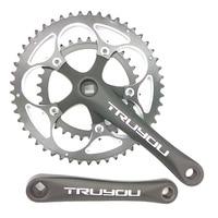 TRUYOU Road Bicycle Crankset Chainwheel 50T 48T 46T 34T 110 BCD Folding Bike Chainring Double Disc CNC Crank Set 2*7/8/9 Speed