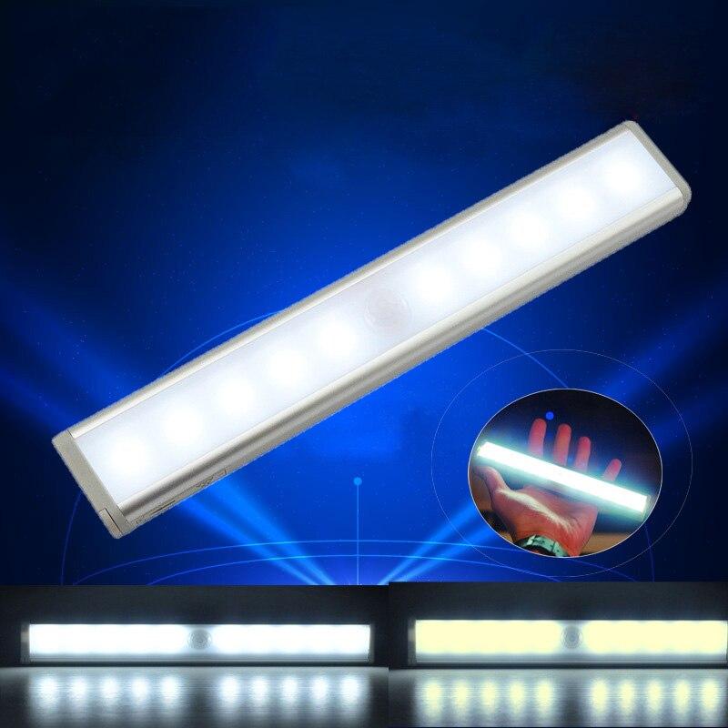10 LED IR Infrared Intelligent Portable Bar Light Motion Detector Light Control Wardrobe Light Corridor Light Cabinet Light