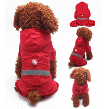 Camoflage Dog Raincoats Reflective Clothes Waterproof Pet Raincoat For Puppy Dogs Supply Jumpsuit Pet Products for Chihuahua