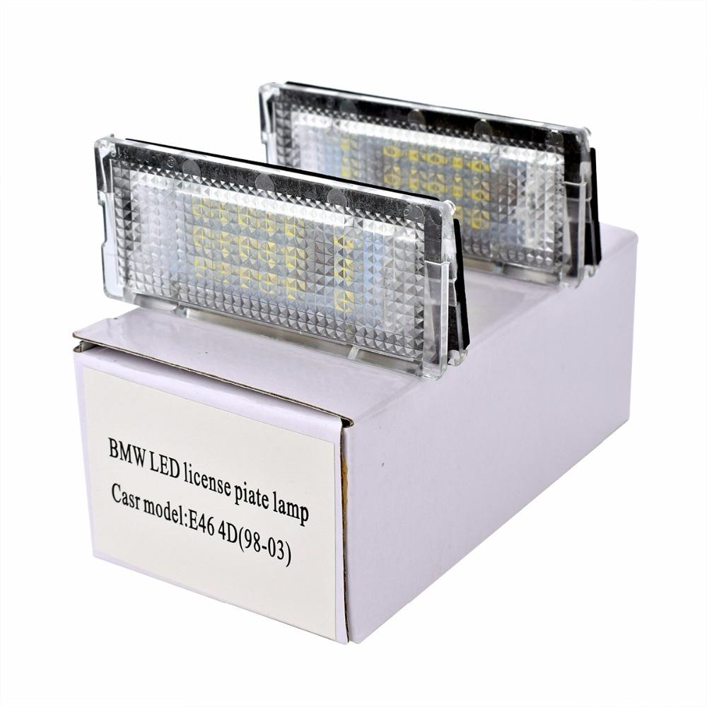 HengChiLun 3528 SMD 12V Car LED License Plate Light for BMW E46 4D X3 X5 E39 E36 LED License Lamp Bulb Car Tail Light Assembly