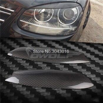 цена на High Quality Real Carbon Fiber decoration Headlights Eyebrows Eyelids cover for Volkswagen VW golf 5 MK5 2005 2006 2007
