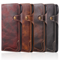 For IPhone 7 Case Luxury Mobile Phone Case Cover Flip Leather Vintage Wallet Style With Card