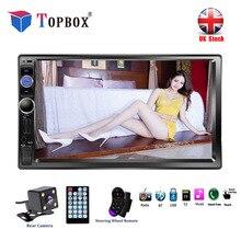 Topbox 2 Din 7 дюймов ЖК дисплей сенсорный экран автомобиля радио Bluetooth Мультимедиа Авто Аудио плеер стерео Поддержка заднего вида камера 2Din