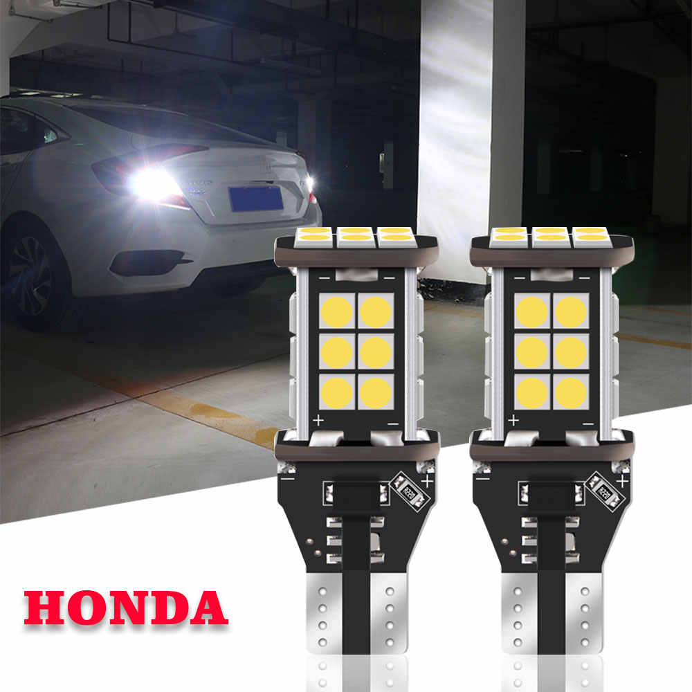 White Canbus W16W T15 24SMD Backup Lamp Reverse Light Bulb For Honda Accord Civic 4D CRV fit Pilot 2009 2010 2011 2012 2013 2014