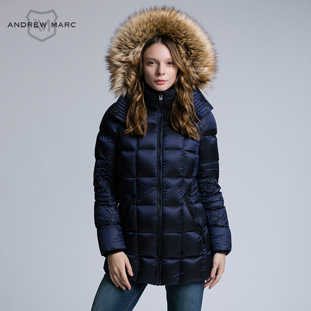 c7679eaae02 ANDREW MARC 2016 Down Jacket Women Winter Parkas Coat Warm keeping Down  Jackets TW6AD532