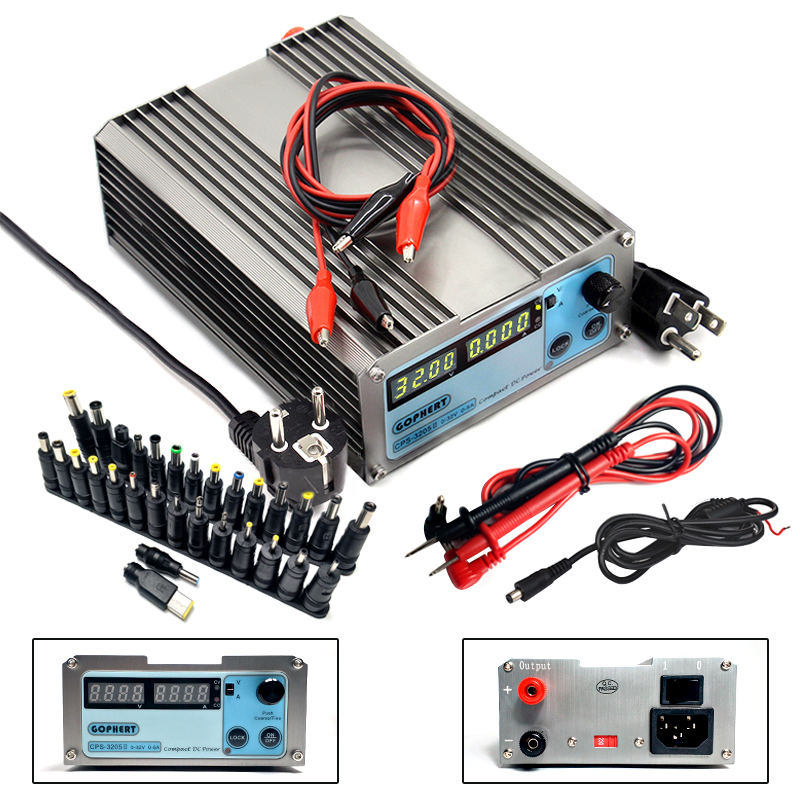 CPS-3205 Laboratory Power Supply Adjustable Regulated DC Power Supply High Precision 4 Digital Display 32V 5A Voltage RegulatorsCPS-3205 Laboratory Power Supply Adjustable Regulated DC Power Supply High Precision 4 Digital Display 32V 5A Voltage Regulators