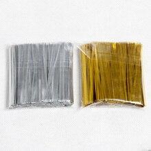700 шт./упак. Золото/Серебро Перевязки проволока для торта запечатывания целлофановые мешочки подарки пакет крепежа запечатывания вечерние поставки 8z