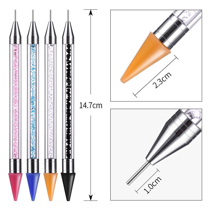 Image 3 - 2019 New Nail Point Drill Tool Acrylic Double Head Drill Crayon Multi Function Wax Head Point Drill Nail Pen-in Dotting Tools from Beauty & Health