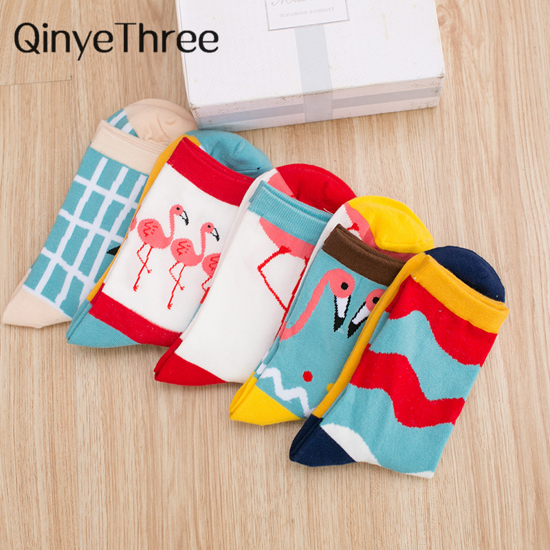 2018 New Lovely Cartoon Women Socks High Quality Cotton Sox Japanese Fashion Style Socks Autumn Winter Warm Socks For Lady Girls