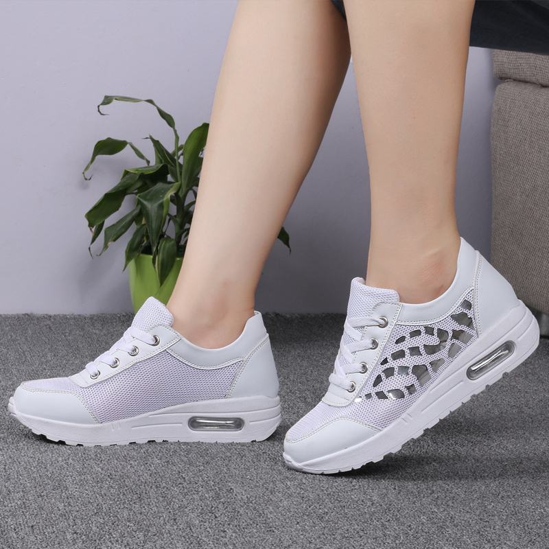 Trainers Women Casual Shoes Summer Style Outdoor Breathable Low Top Shoes Woman Flat Heels Sport Ladies Shoes Size 35-40 ZD71 (19)