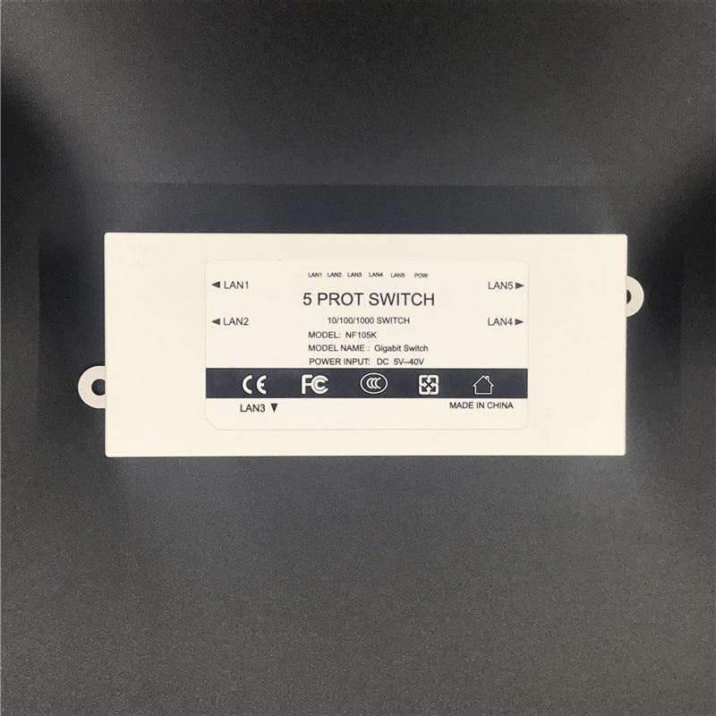 OEM fabrik Outlet Marke 5 Port Gigabit Ethernet Switch günstigstes netzwerk switches 10/100/100 0 mbps UNS EU stecker schalter lan combo