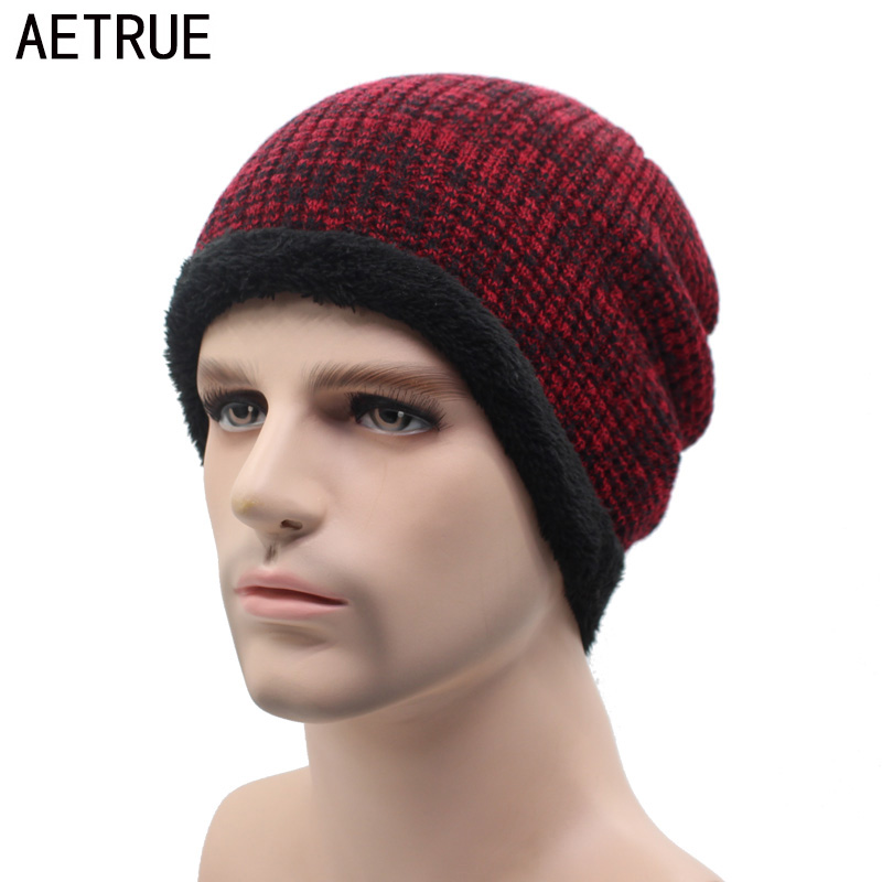 AETRUE Winter Beanie Knit Hat Men Caps Mask Baggy Gorras Bonnet Fashion Soft Skullies Beanies Winter Hats For Men Women Cap Hat
