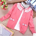 New autumn Sweater female cardigan lace baby children's clothing  free shipping