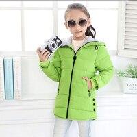 מעילי ילדה מעיל ילד מעיל חורף בנות 2017 ילדי אופנה בגדי ילדים סלעית לעבות מעיל כותנה מרופדת מעיל