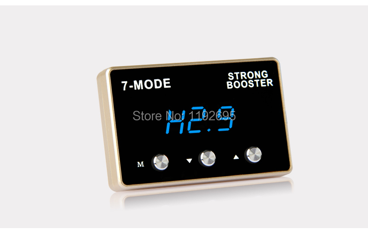 7 modo de pantalla LED digital Fuerte Refuerzo Del Coche controlador de acelerad