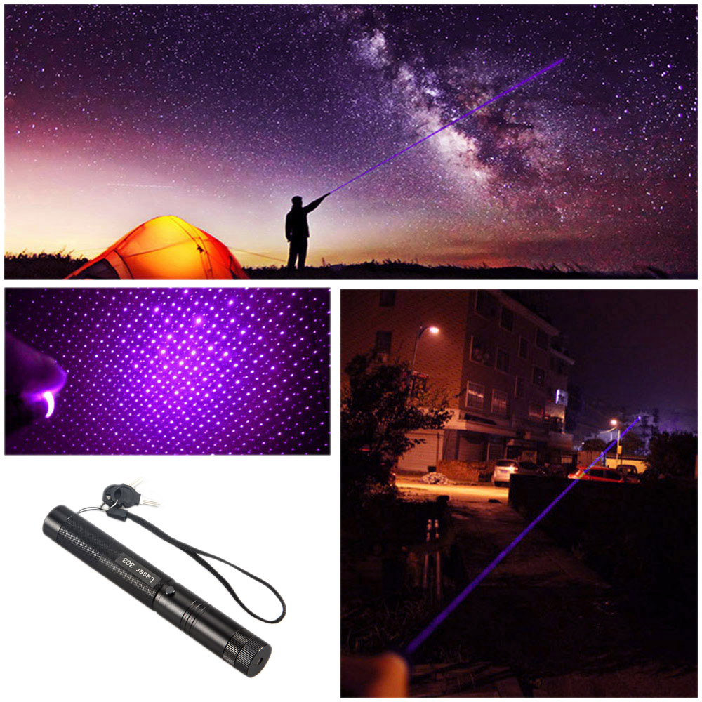Waterproof 650NM Laser Pointer Pen Light Adjustable Focus Burning Beam Light +Rechargeable 18650 3000mAh Li-ion Battery +Charger