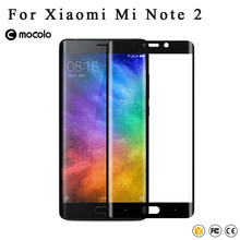 Original Mocolo brand xiaomi note2 3D Curved Full Xiaomi mi note 2 Tempered Glass Screen Protector Film For Xiaomi note 2 0.33mm(China)